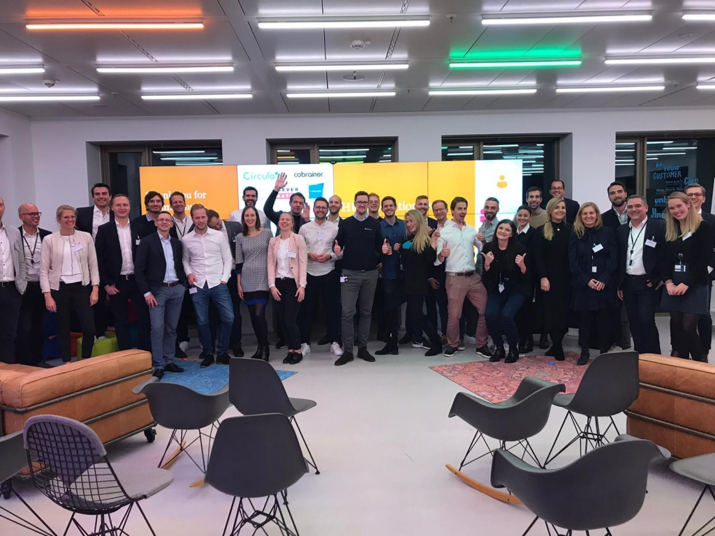 Startups participating in NextLevel startup initiative organized by PwC during HR Innovation Day